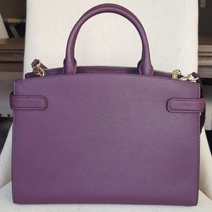 MICHAEL Michael Kors Bags - NWT Michael Kors MD Karla satchel bag purse  damson 663e4512ffba9